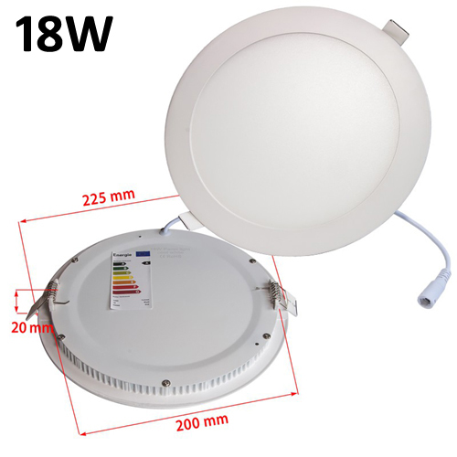 18w Led Panel Light Flat Ultra Thin Led Panel Downlight: JSG Accessories LED Round Recessed Ceiling Panel Down